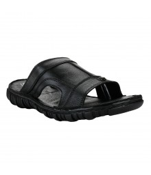 Cefiro Black Slipper for Men - CSD0031
